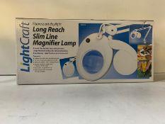 3 x Lightcraft Flourescent Daylight Long Reach Magnifier Lamps