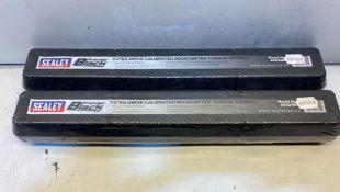 2 x Sealey AK624B Micrometer Torque Wrench   RRP £98