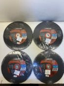 20 x Abracs Proflex 300mm x 3.5mm x 20mm Flat Metal Cutting Disc