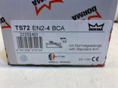 4 x Dorma TS72VBC Overhead Door Closer   RRP £211
