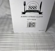 Approx 240,000 x 888 Disposables Jumbo Straws | Clear