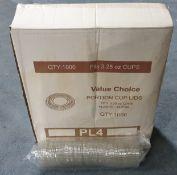 Approx 72,000 x 3.25oz Portion Lids Plastic | Clear