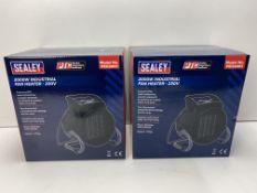 Pair Of Sealey Industrial PTC Fan Heater 230V PEH | Total RRP £117.48