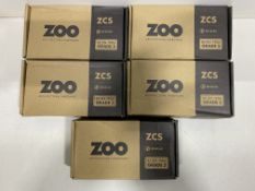 5 x Zoo Hardware - ZCS010SS 19mm Mitred Lever On Round Rose