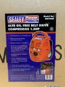 Sealey SAC106B 6 LTR Oil Free Belt Drive Compressor 1.5HP