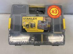 Stanley 1-97-487 Stackable Sortmaster Junior Organiser Triple Pack
