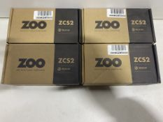 4 x Various Zoo Hardware 'T - Bar' Lever On Round Rose Sets