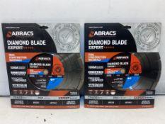 2 x ABRACS ABDI30020AM DIAMOND BLADE INFERNO DUAL PURPOSE 300MM
