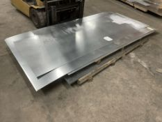 8 x 1mm Sheets of Galvanised Steel in Various Sizes | See Description