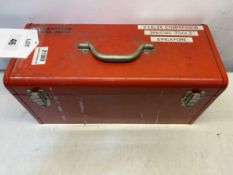 Steel Toolbox W/ Various Misc. Tools As Pictured