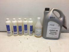 7 x Various Bottles of Vacuum Pump Oil As Listed