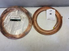 2 x Coils of 1/4'' Copper Tubing