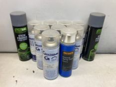11 x Various Spray Paint Cans As Listed
