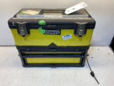 Stanley Twin Tool Box W/ Various Fixings/Parts As Pictured