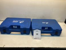 2 x Plastic Hardcases W/ Foam Padding & 5 x Air Hoses
