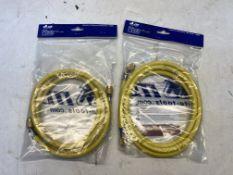 2 x E372-FTY 1/4'' Yellow Hose Sets