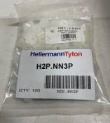 Approximately 40 x Bags Hellermann Tyton Polyamide 'P' Clips | 5mm | 100 pcs per bag