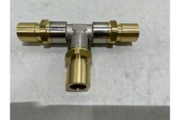Approx. 400 x IMI Norgen SKE14827 Brass T-Shape Connectors