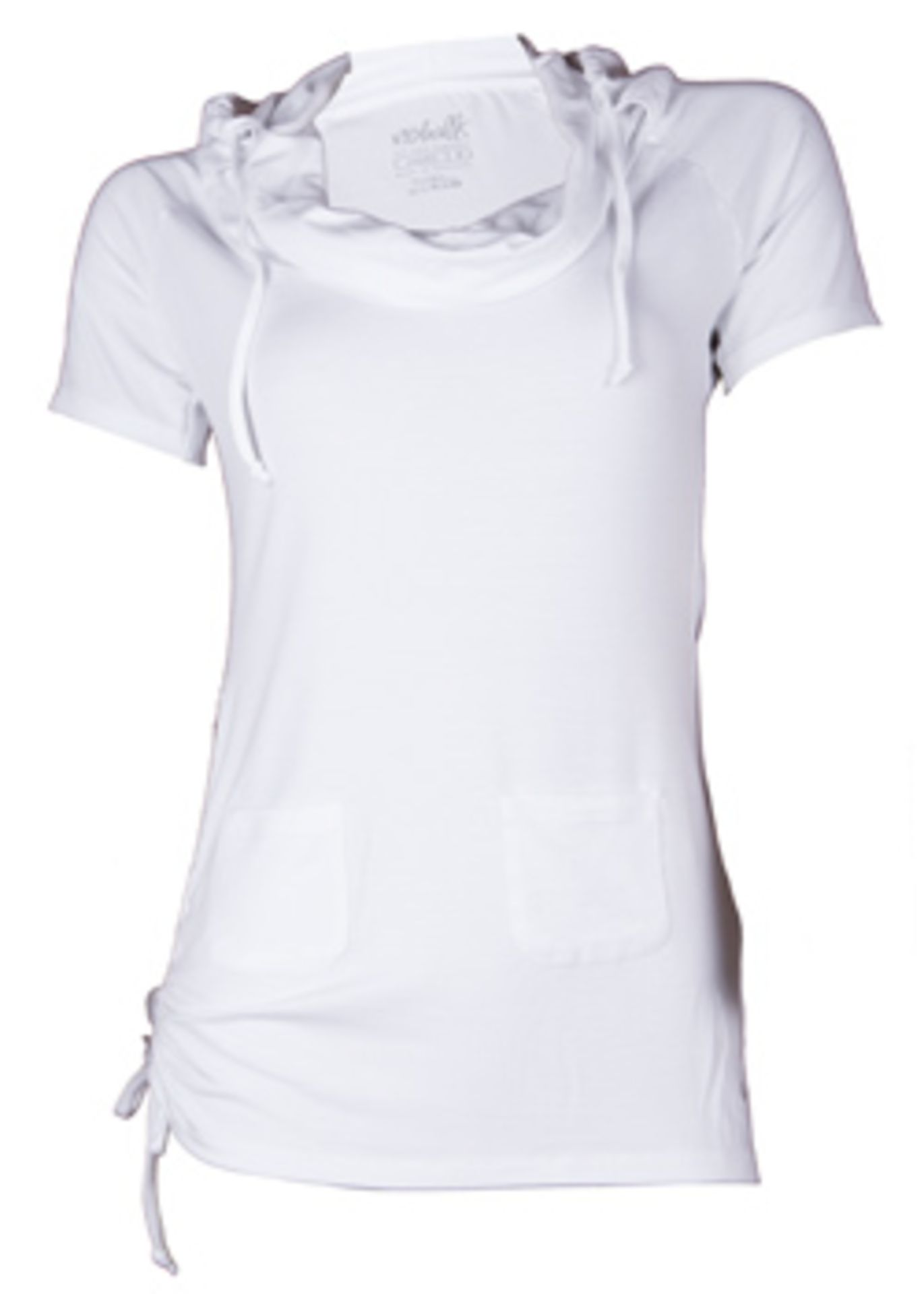 2 x Bamboo Hooded Short Sleeved Tops | XS - Image 2 of 2