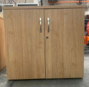 Oak Effect Wooden 2 Door Cupboard