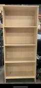 4 Shelf Light Wood Effect Bookcase