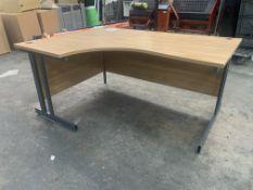 Oak Effect Wooden Office Desk