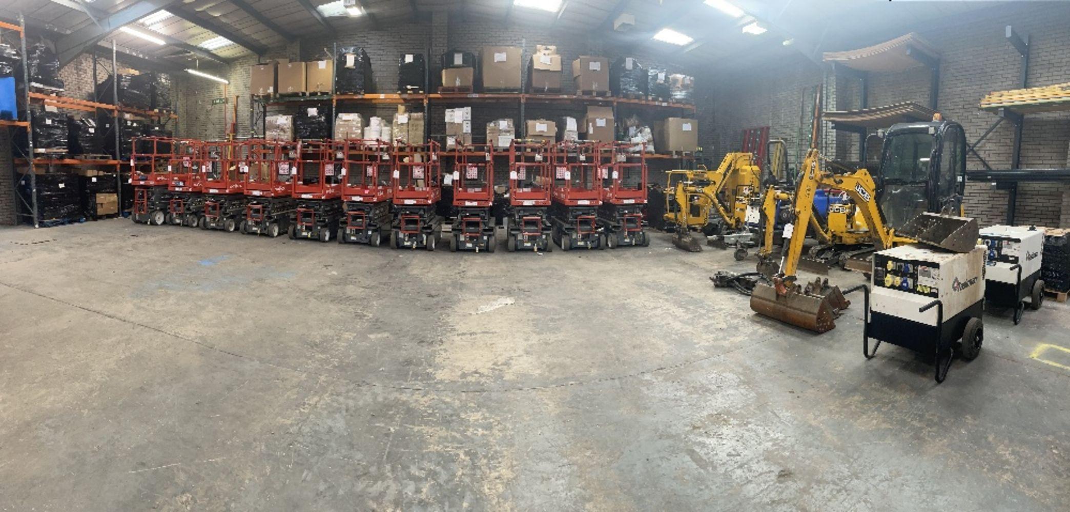 Plant & Machinery Sale | Skyjack Scissor Lifts | JCB Mini Excavator/Diggers | Haulotte Platform Lift | Brendan Bowsers Pressure Washer