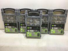 5 x MASTOOL 1100 Piece Organiser Pro W/ Various Screws
