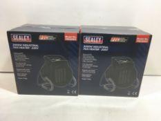2 x Sealey 200W Industrial Fan Heater - 230V | PEH2001