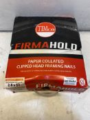 FirmaHold Ring Shank Firmagalv+ Nails & 3 Fuel Cells 2.8 x 63 (Box of 3300)