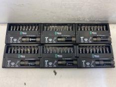 6 x Wera WER057684 Impaktor Diamond 9pc Bit Set and Holder