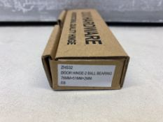 "21 x Zoo Hardware - ZHS32EB Door Hinge 2 Ball Bearing 3""x2""x2mm Electro Brass"