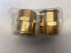 5 x SANHA Gas press fitting, transition -Nip 54 x 2 ( 2 pcs per bag )