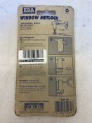 18 x ERA 829-3 Metlock Window Handle Lock (Card of 2): Brass