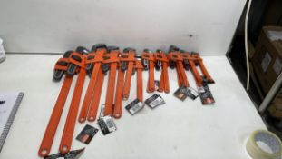 19X Monkey wrenches   assorted sizes