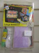 300 x Brand New Mister Maker Collage Kit | Animals