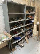 2 x 6 Tier Metal Storage Cabinets w/ Contents
