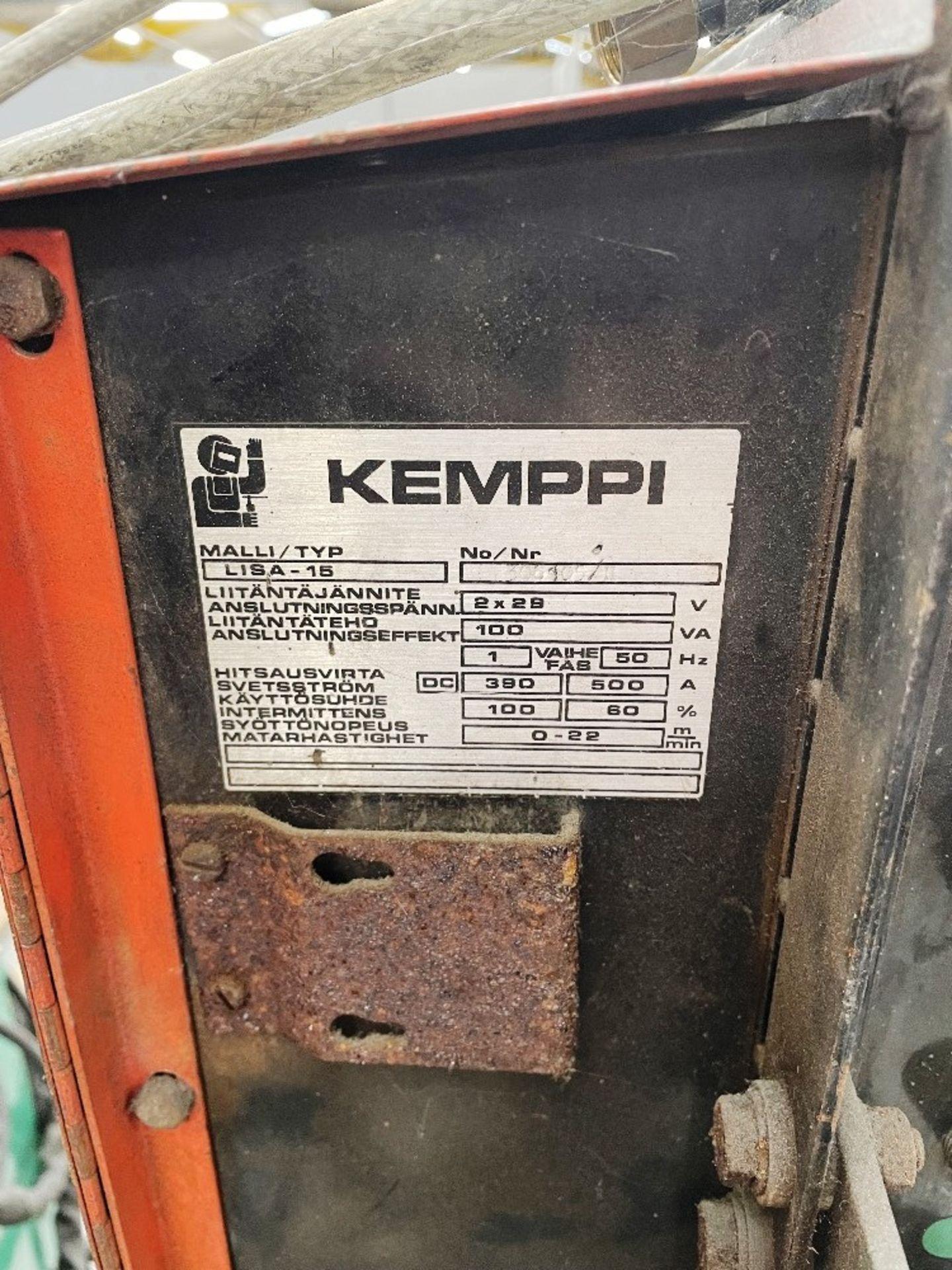 Kemppi RA230 Mig Welder w/ Kemppi Lisa 15 Wire Guide Tube - Image 5 of 6