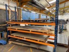 Quantity of Various Metal Sheeting/Off Cuts - As Pictured   Racking Included