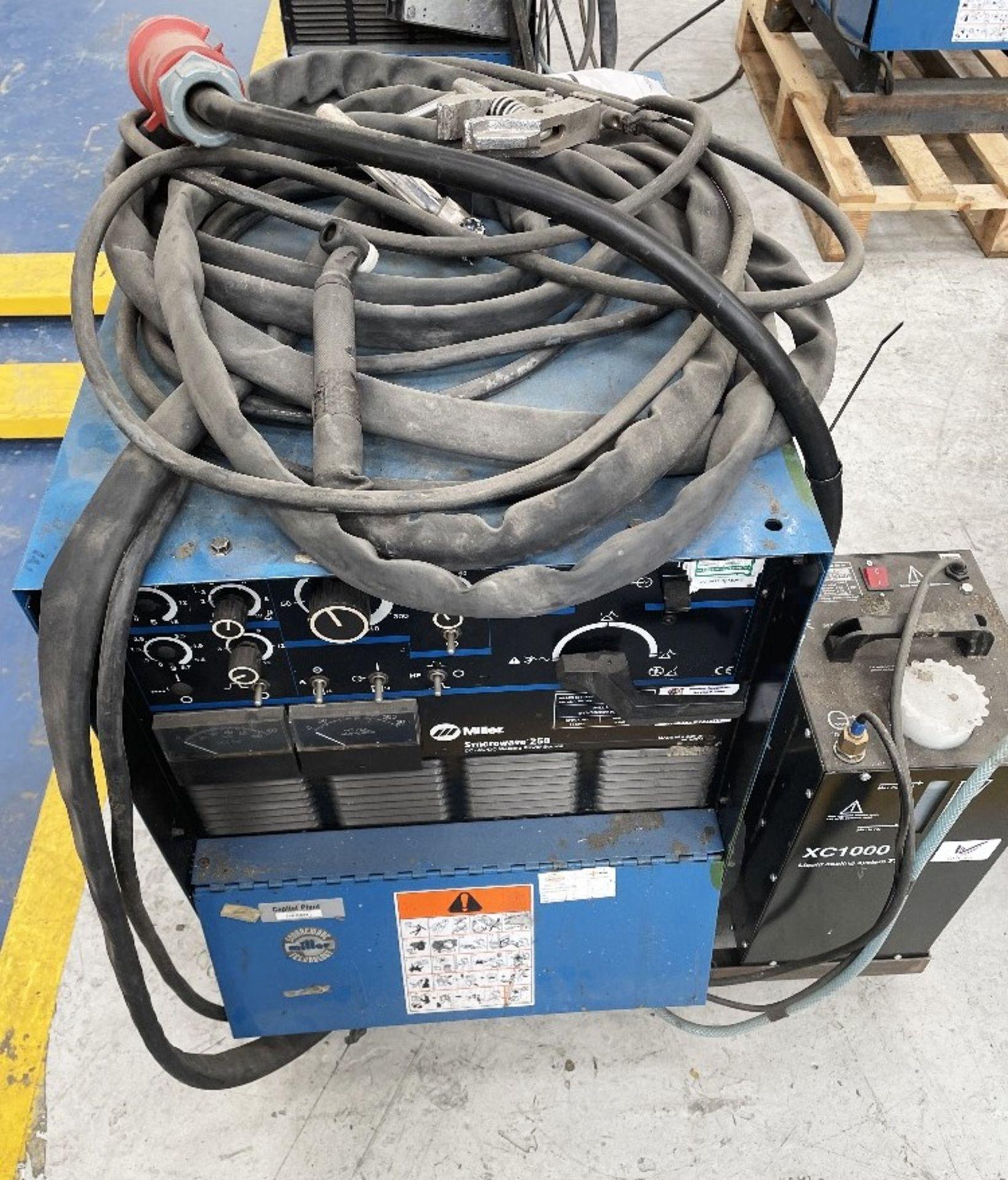 Miller Syncrowave 250 Tig Welder w/ TecArc XC1000 Water Cooler - Image 5 of 6