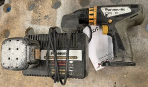 Panasonic EY-6409 Cordless 12v Drill Driver w/ Battery & Charger