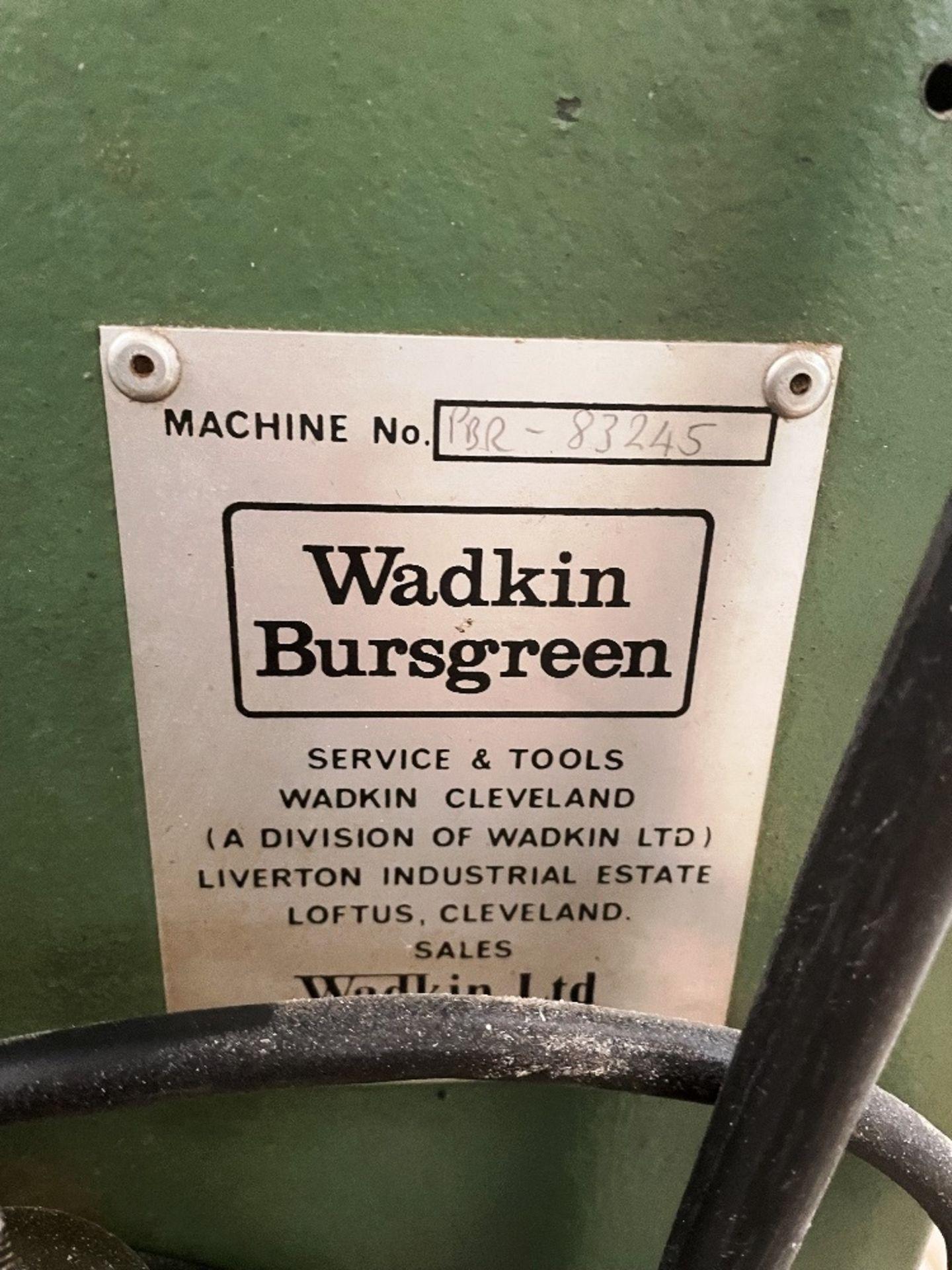 Wadkin Bursgreen Vertical Bandsaw w/ Power Feed - Image 5 of 9