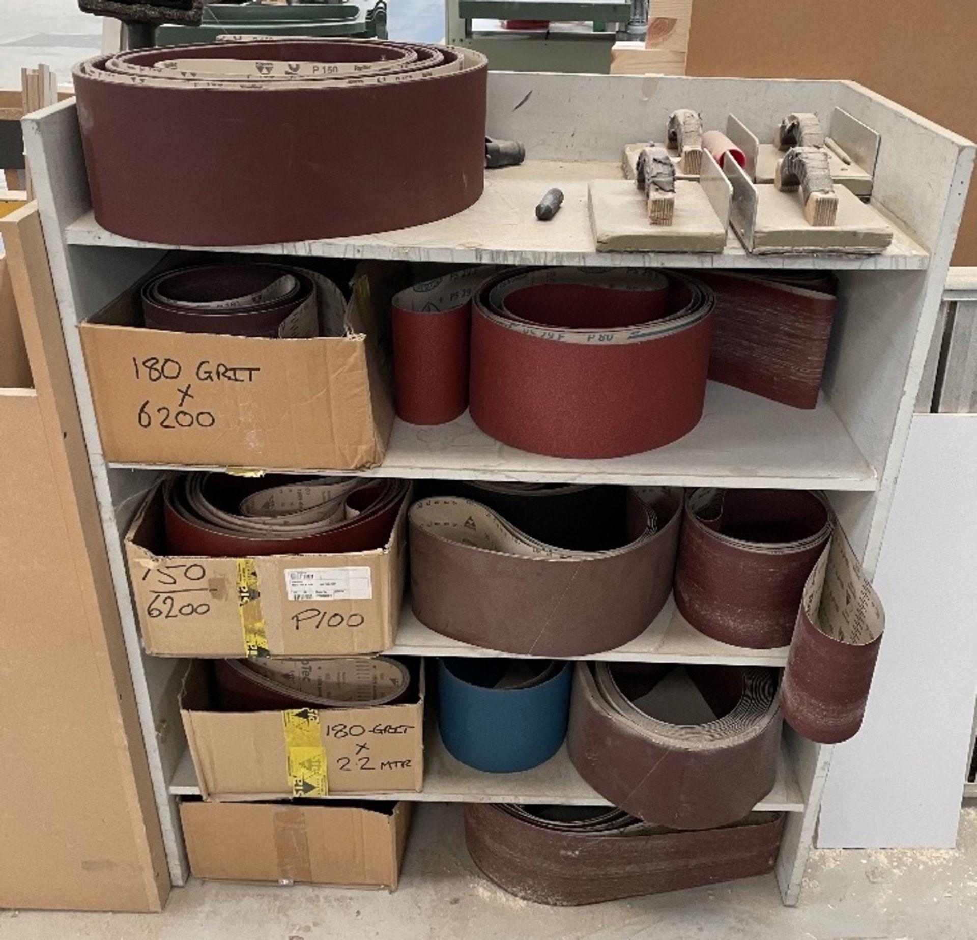 Felder FS 2200 Belt Sander w/ Spare Sanding Belts & Pads - Image 8 of 13