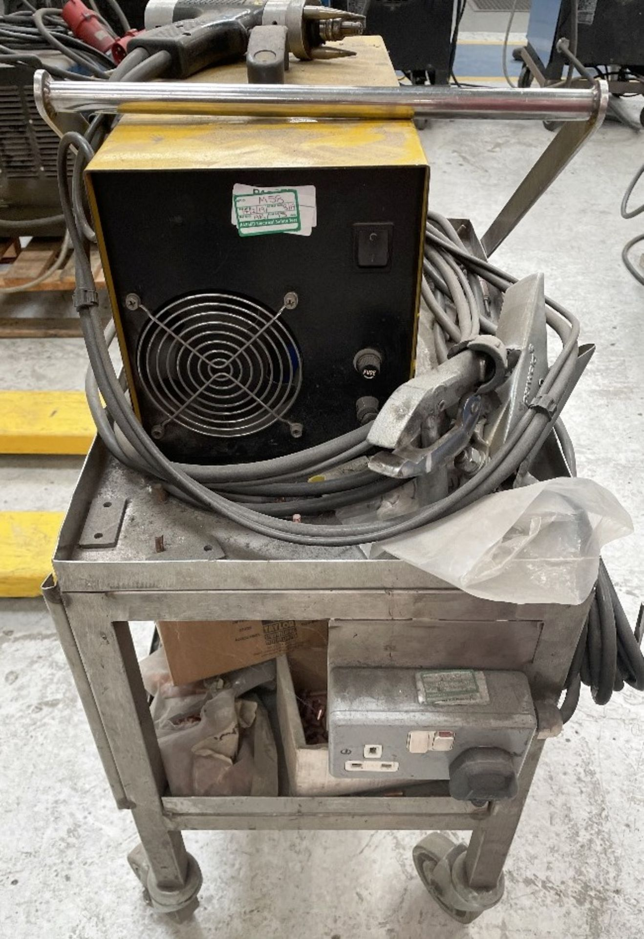 Taylor CDM8 Capacitor Discharge Stud Welding Machine w/ Gun, Studs & Mobile Bench - Image 4 of 5
