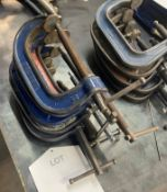 """11 x Record 4"""" G Clamps"""