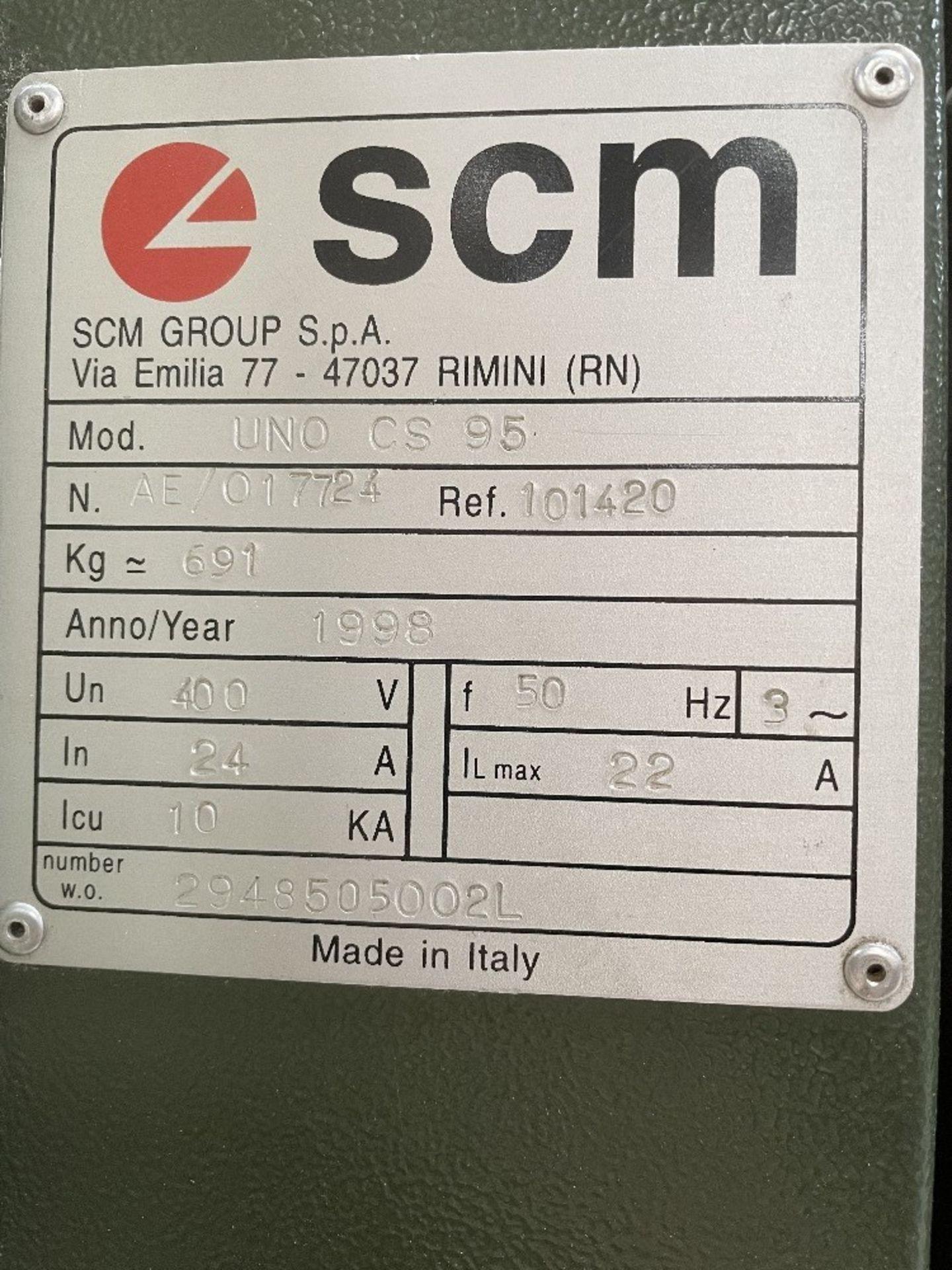 SCM Sandya 1K UNO CS 95 Drum Sander | YOM: 1998 - Image 3 of 7