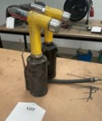 2 x ValueRivet V-3 Pneumatic Rivet Guns