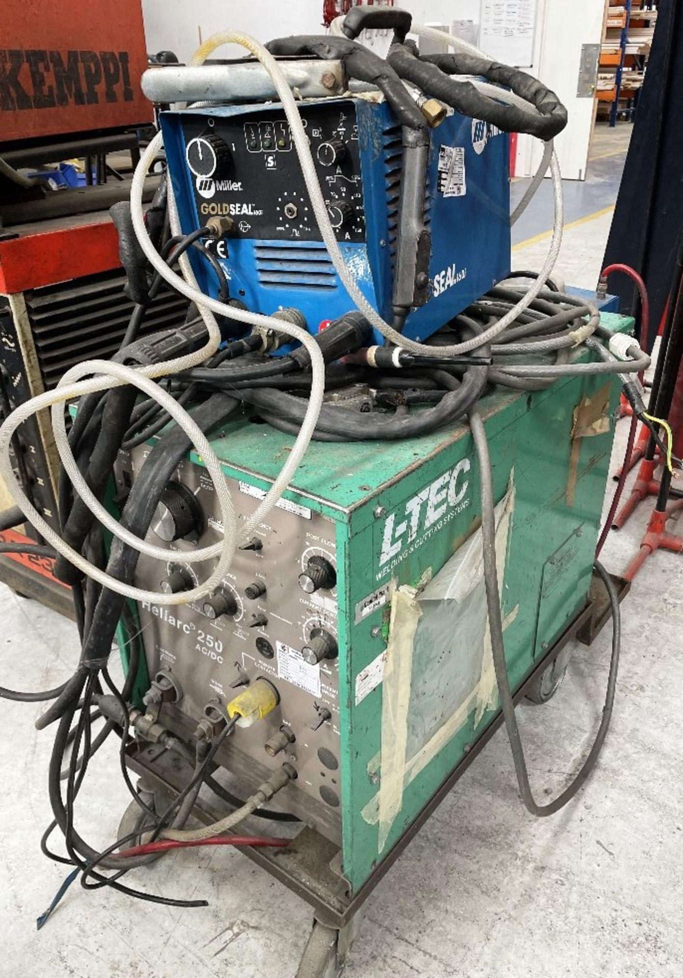 L-Tec Heliarc 250 Tig/Stick Welder w/ Miller Power Source & Water Cooler