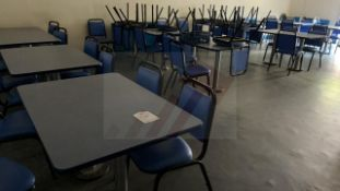 Quantity of Canteen Furniture inc: Tables & Chairs