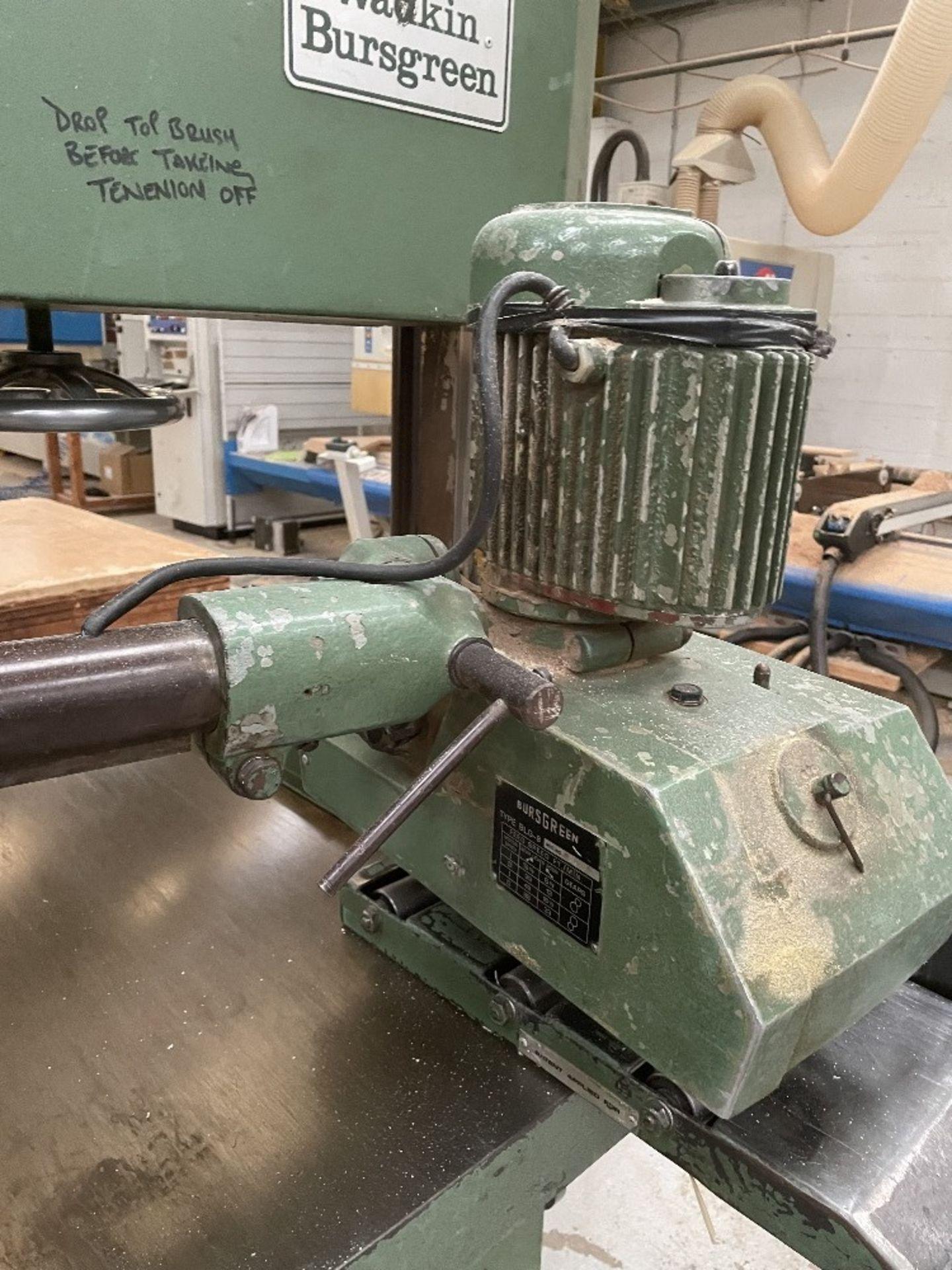 Wadkin Bursgreen Vertical Bandsaw w/ Power Feed - Image 7 of 9